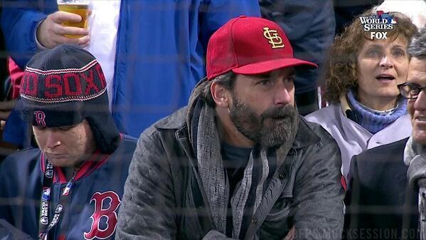 Jonn Hamm has the greatest Cardinals playoff beard