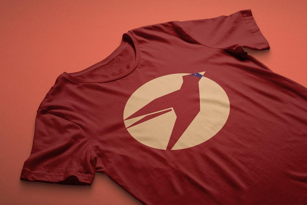 Minimal Birds Shirt available on Amazon